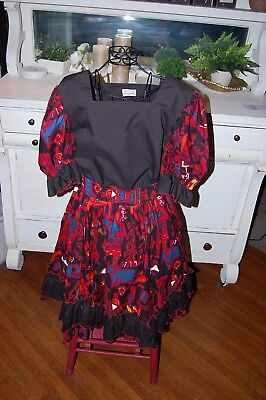M A Walber Original Ladies Square Dance Outfit Rockabilly Hipster