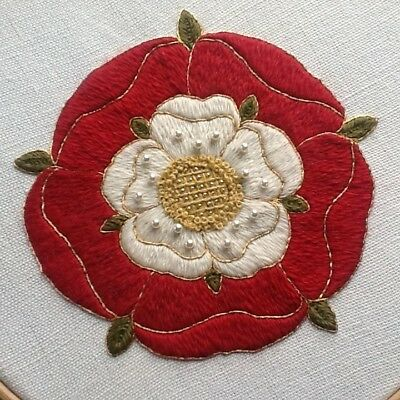 'Tudor Rose' a crewel embroidery kit