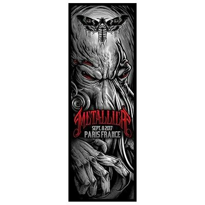 Metallica paris france 8 september 2017 limited Lithograph poster new neuf