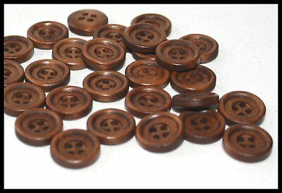 W451 18mm 28L Light Brown Fawn Camel 4 Hole Craft Jacket Coat Buttons Knitting