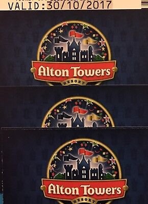 4 X Alton Towers Scarefest Tickets For 30th October Park Open 10-9pm