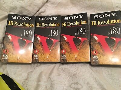 5 Sony High res VHS videos. New sealed