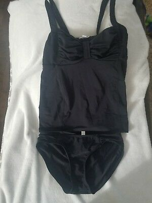 A Pea in the Pod Black Two Piece Bathing Suit Size Medium