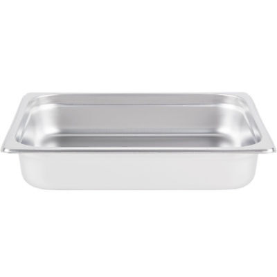 "6-Pack - Superior 2 1/2"" Deep 18/8 Stainless Steel Hotel Steam Table Food Pans"