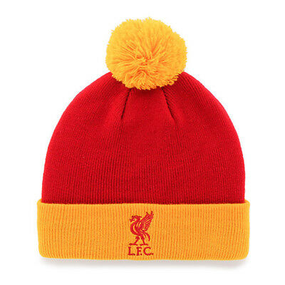 Official Liverpool FC Bobble Bronx  Hat  (Red and Yellow)  FREE (UK) P+P