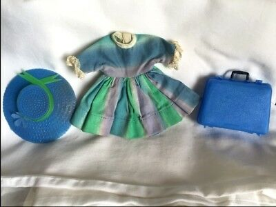 """Blue& Green  rainbow dress 3 piece outfit for Betsy McCall 8"""" Doll . No doll"""
