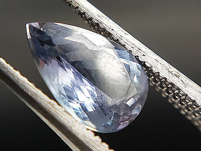 Natural Earthmined pear shape faceted Tanzanite 1.67ct video inside