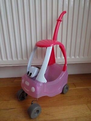 Zapf Creations Baby Born Sparkly Pink Cosy Coupe Push Along Car