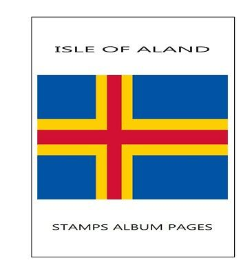 Aland Stamps album pages Filkasol - 2008-2015 years (NOT STAMPS) + Hawid protect