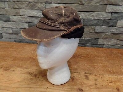 His Royal Highness Ritzy Hats Cap Beanie Hat Genuine Leather Vintage Boys Youth
