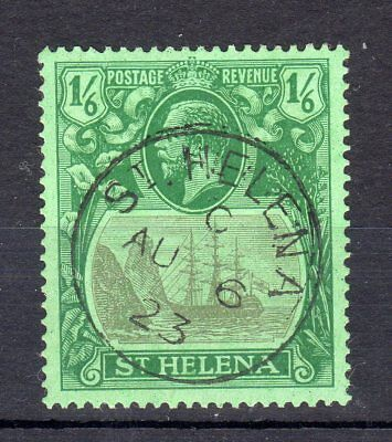 St. Helena 1922/37 One Shilling and Sixpence sg107 used cat £60.00
