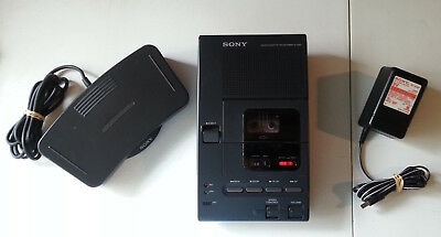 SONY Microcassette Transcriber M-2000 with power supply and foot pedal