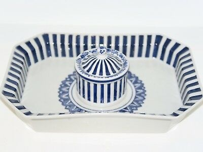 Royal Copenhagen, old blue and white ink well