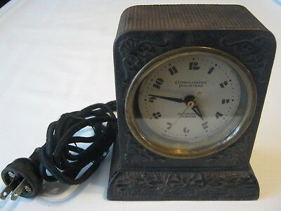 Antique 1930's Canada Hammond Junior Cast Iron Electric Clock