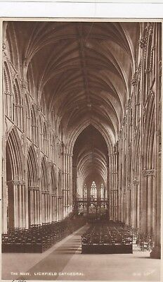 England Lichfield Cathedral Postcard Old Vintage Card View Standard Souvenir (17
