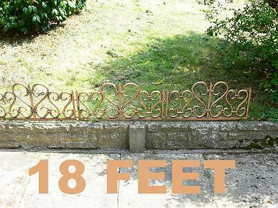 9 Sections 18ft Distressed Bronze Effect Lawn Edging Fence,Grave Side Fence. 2