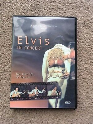 Elvis dvd Elvis in Concert the 1977 CBS TV Special