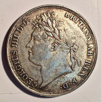 GREAT BRITAIN 1822 George IV Silver Crown