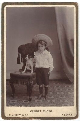 Canine CC: portrait SMALL BOY with his JACK RUSSELL