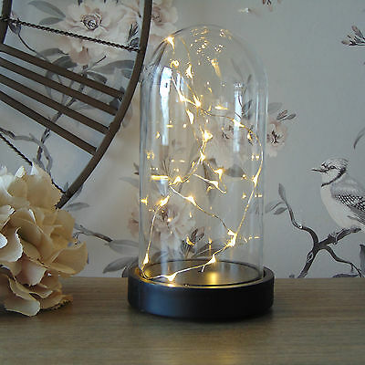 LED Light Up Dome  Fairy Light Bell Jar Accessory Modern Lamp Lantern Xmas Gift