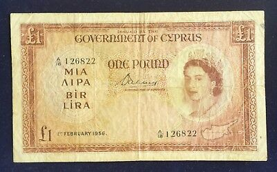 Cyprus 1 Pound 1956 Extremely Rare