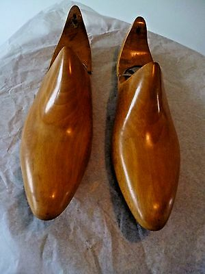 Beautiful Vintage Wooden Shoe Lasts Trees By Alan Mcafee, Dover St, Size 38 Rare