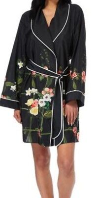 Ted Baker B By Ted Secret Trellis Kimono Dressing Gown Black Size 12-14 £42
