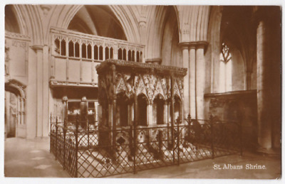 Vintage Postcard - St Albans Cathedral Shrine  - Religious Postcard 24