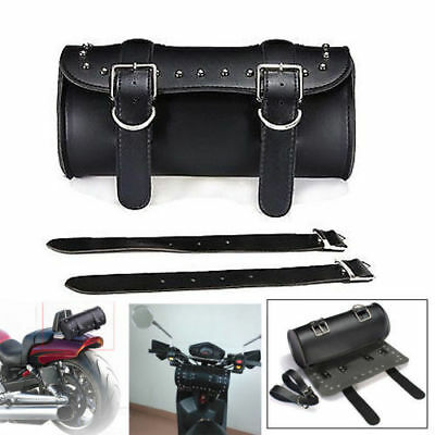 Universal Motorcycle Tool Bag Luggage Saddlebag Roll Barrel Storage For Harley F