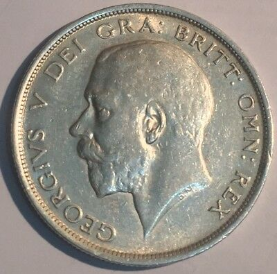1915 King George V Silver Half Crown Extra Fine Condition!