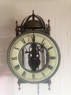 Antiguo reloj de pared Aleman esqueleto