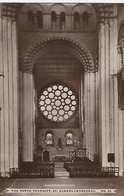 Vintage Postcard - St Albans Cathedral - North Transept - Religious Postcard 25