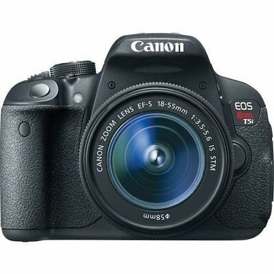 Canon EOS Rebel T5i / EOS 700D 18.0MP DSLR Camera W/ 18-55mm STM LENS (2 LENS)