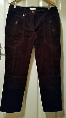 Ladies velvet golf trousers. Brown.  Daily Sport. Size 16
