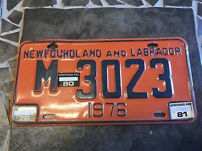 1976 Newfoundland Machinery Licence Plate