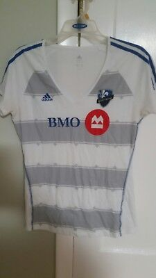 Montreal Impact Women's V-Neck Shirt LARGE EXCELLENT CONDITION