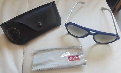 Ray Ban Cats 5000 RB4125 801/32 2N Aviator & Case