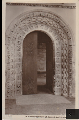 Vintage Postcard - St Albans Cathedral - Norman Doorway - Religious Postcard (27
