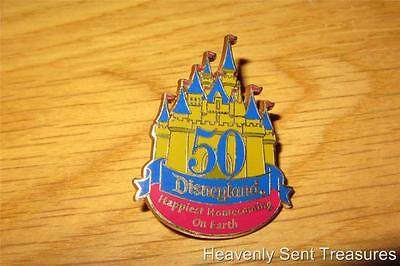 Disneyland 50th Anniversary 2004 Castle Disney Pin Happiest Homecoming on Earth