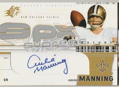Archie Manning Autograph Trading Card