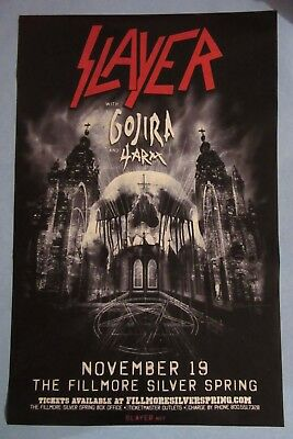 SLAYER giant concert poster 108x70cm (43x28 inch) / Silver Spring 2013