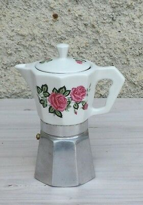 CAFFETTIERA IN CERAMICA ANNI 60/70 made in Italy flory express