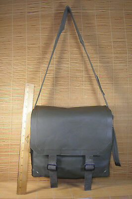 Rare Vintage Rubber Army Shoulder Bag Waterproof Pouch KL 90 still Holds Water