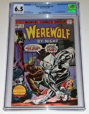 Werewolf by Night #32 ~ Origin and 1st Appearance MOON KNIGHT 1975 ~ CGC 6.5
