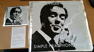 """Nurse With Wound & Stereolab """"Simple Headphone Mind"""" 12"""" & CD***ULTRA RARE***"""