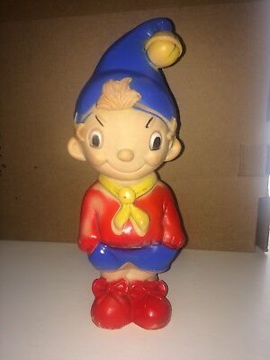"""Vintage 10"""" Soft Rubber Noddy Collectable Toy Enid Blyton"""