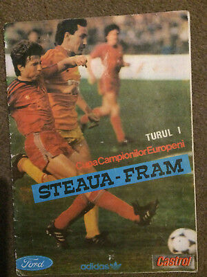 Football Programme Steaua Bucharest - Fram 1989