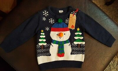 F&F boys age 9-12 months Christmas  jumper