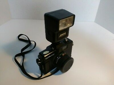 Vintage ULTRONIC 35MM CAMERA with 50mm lens & flash NON WORKING