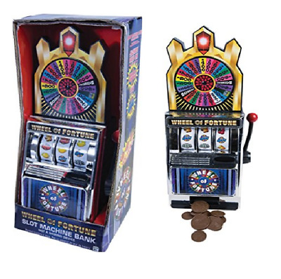 Wheel of Fortune Slot Machine Bank featuring a working slot machine A Jackpot